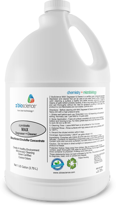 MAX degreaser probiotic cleaner distributed by Joe W. Fly Co., Inc.